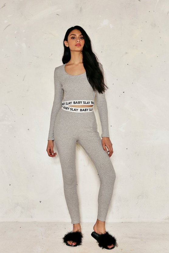 Cora Ribbed Crop Top and Leggings Set