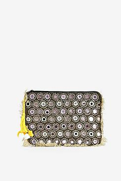 Victoria Mirrored Fully Embellished Clutch