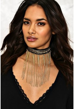 Rhiannon Chain Fringe Collar Necklace