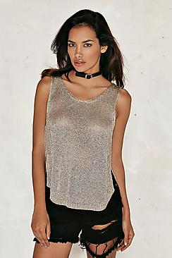 Layla Metallic Knitted Vest