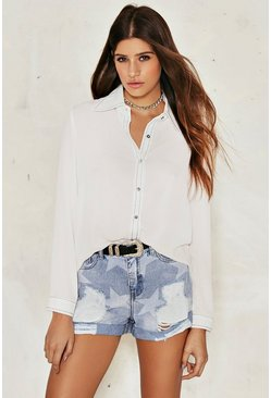 Laurie Distressed Denim Shorts