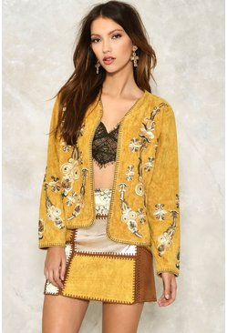 Hide and Sequin Embroidered Jacket
