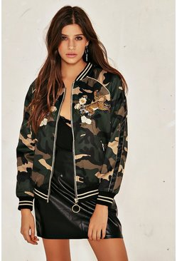Eye of the Tiger Camo Bomber Jacket