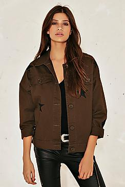 Star Detail Utility Jacket