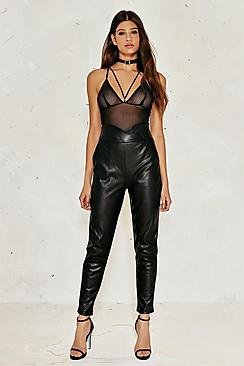 Felicity High Waisted Faux Leather Trousers