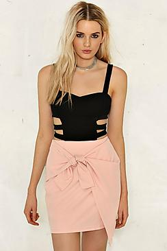 Laura Bow Front Mini Skirt