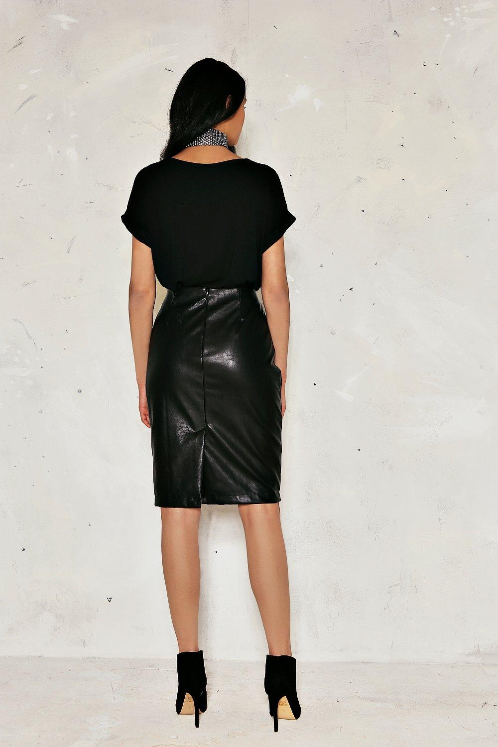 Jessica Lace-Up Vegan Leather Skirt | Shop Clothes at Nasty Gal!