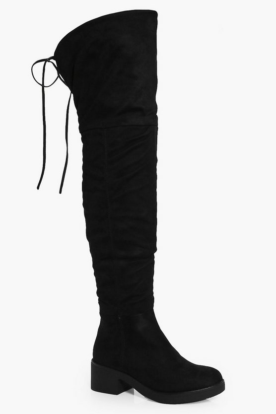 Angel Faux Fur Lined Chunky Over The Knee Boot