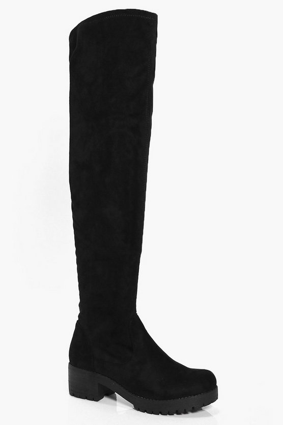 Charlotte Cleated Over The Knee Boot