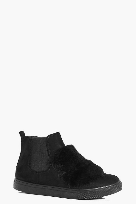 Natasha Faux Fur Trim High Top