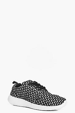 Megan Knitted Lace Up Trainer