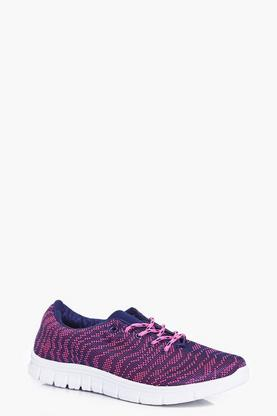 Rosie Knitted Lace Up Trainer