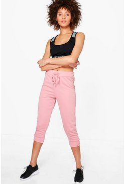 Rose Fit Crop Running Joggers