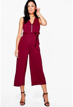 Mya Zip Detail Tailored Jumpsuit