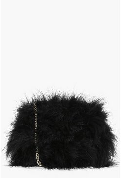 Molly Marabou Faux Fur Cross Body Bag