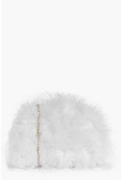 Lexi Marabou Faux Fur Cross Body Bag