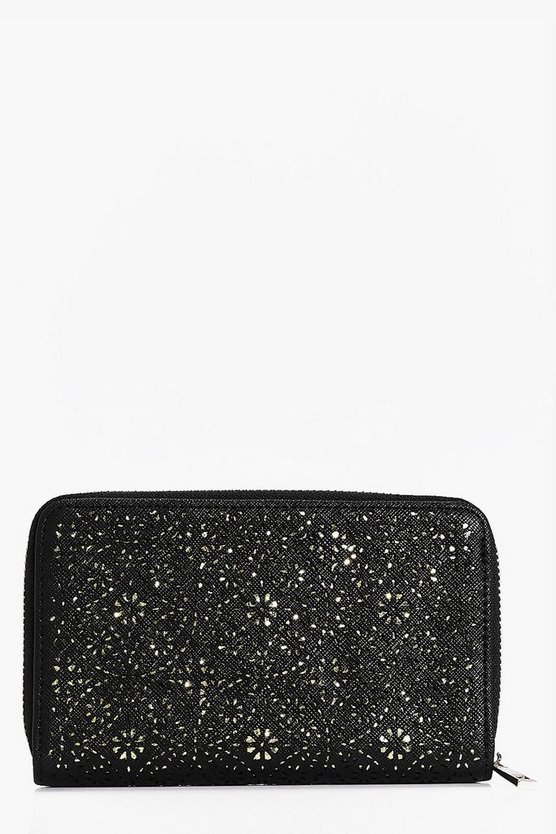 Matilda Laser Cut Zip Around Purse