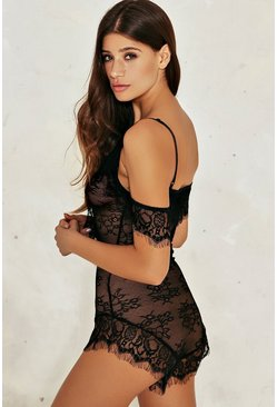 Charlie Cold Shoulder Lace Bodysuit
