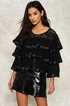 Lace Ruffle Tier Top