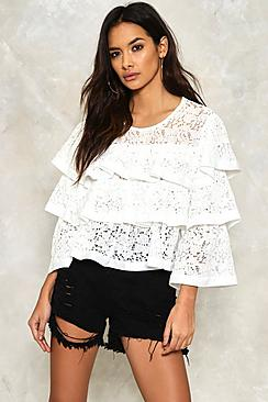 Poppy Lace Ruffle Tier Top