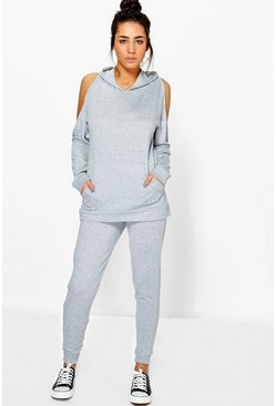 Charlotte Cold Shoulder Hoody & Jogger Set