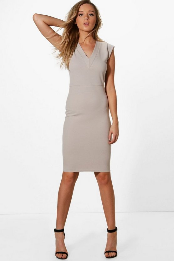 Hannah Tailored Fitted Midi Dress