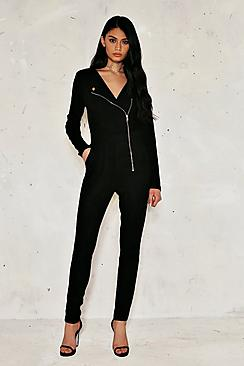 Amy Sudette Biker Zip Jumpsuit
