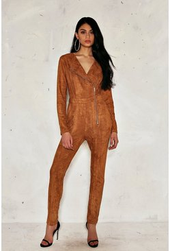Amy Vegan Suede Jumpsuit