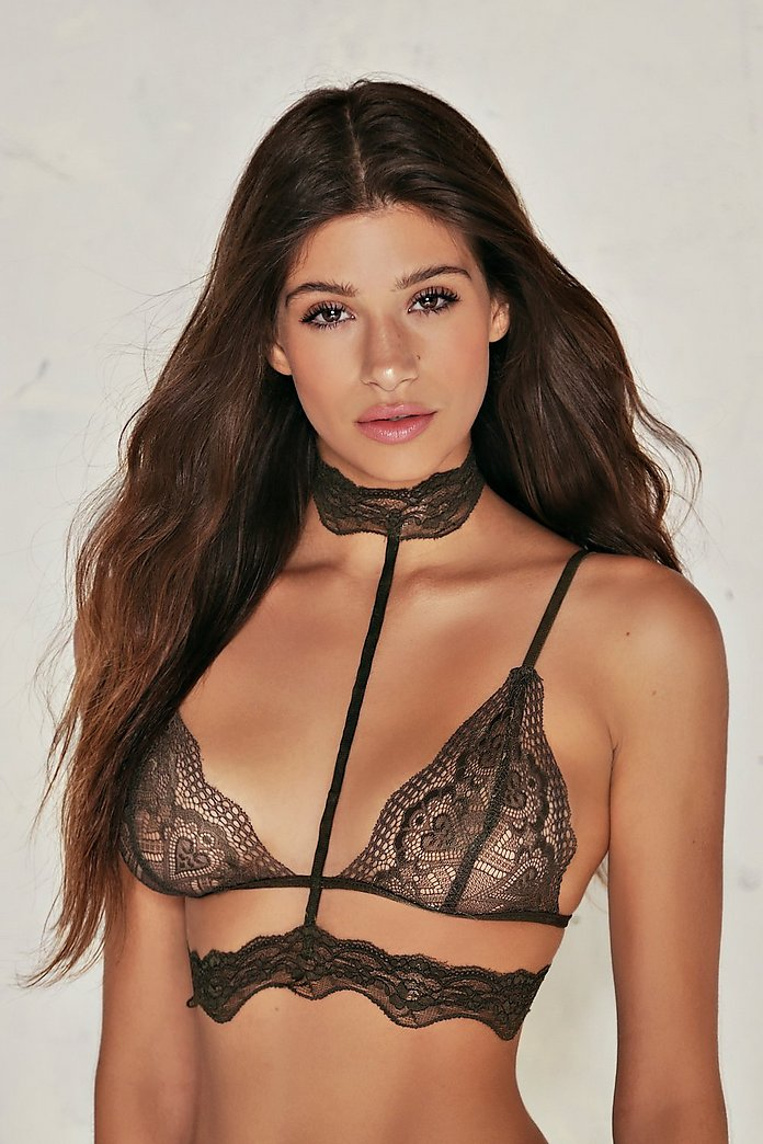 Neck And Neck Lace Choker Bralette