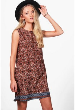 Poppy Sleeveless Printed Shirt Dress