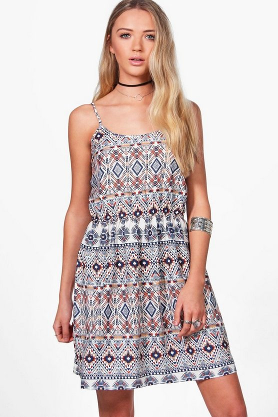 Lauren Aztec Print Strappy Sun Dress