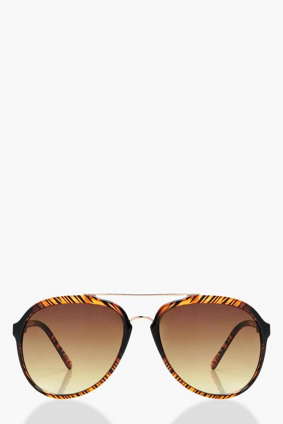 Gracie Textured Frame Aviator Sunglasses