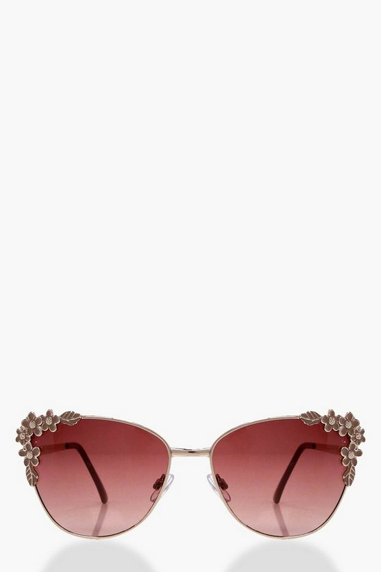 Bethany Floral Frame Cat Eye Sunglasses