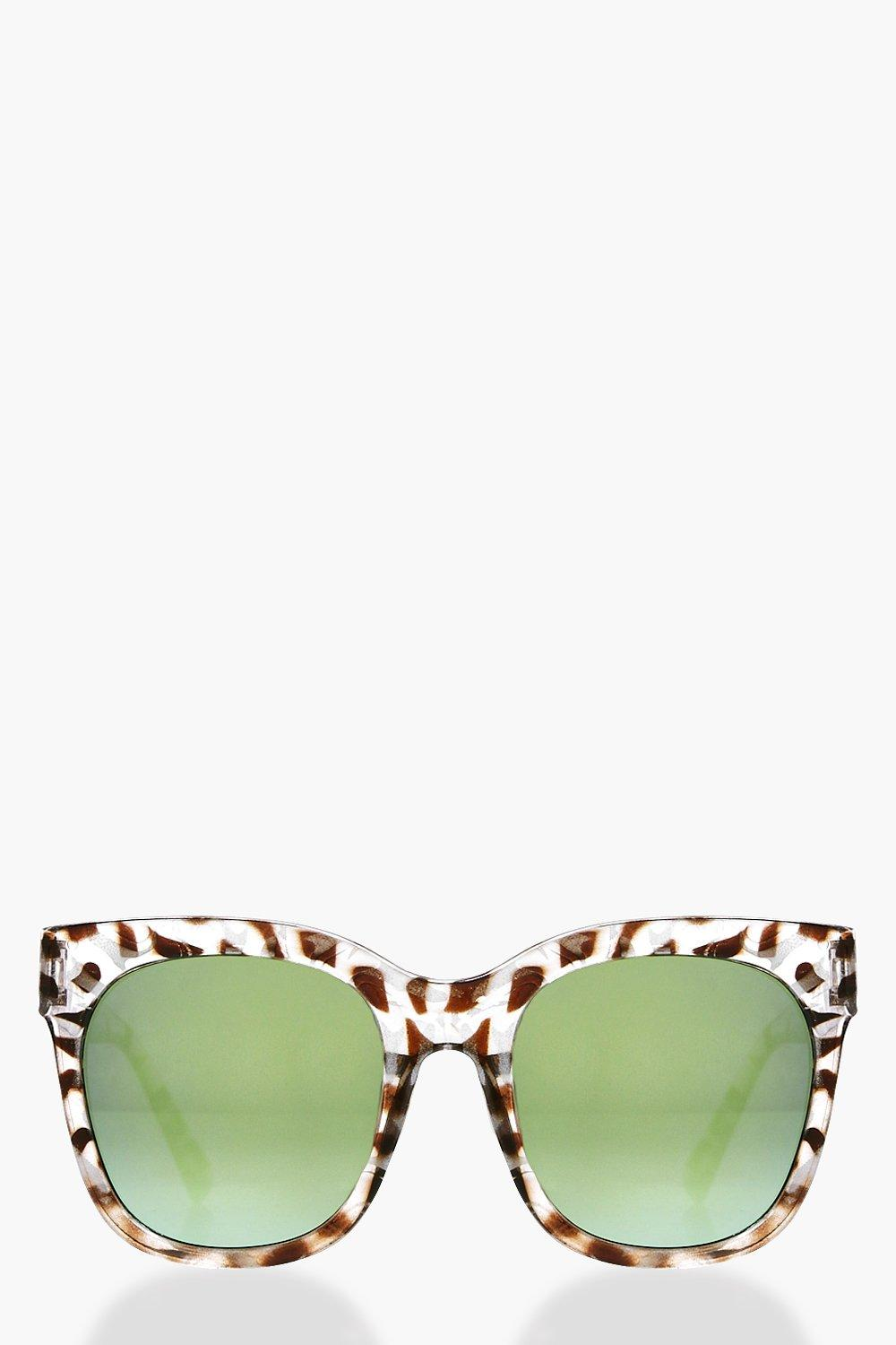 Animal Print Revo Lense Sunglasses  brown
