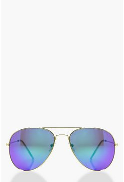 Lena Gold Revo Lense Aviator Sunglasses