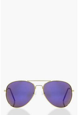 Edie Blue Revo Lense Aviator Sunglasses