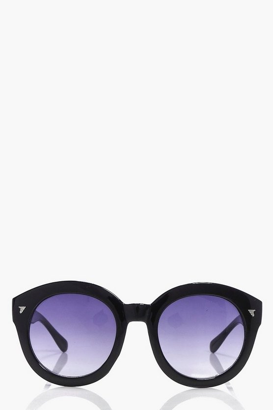 Macey Faded Lense Round Fashion Glasses