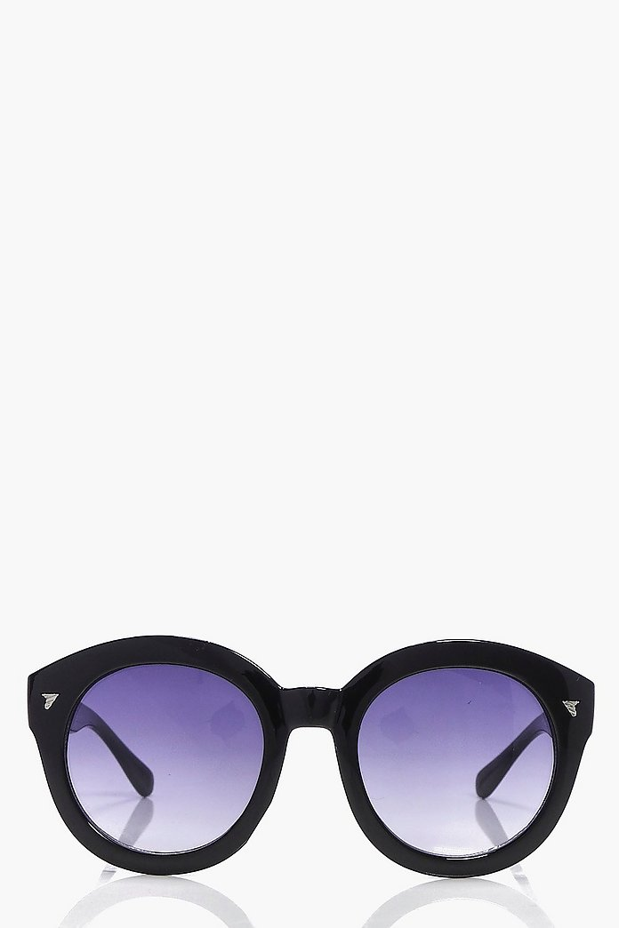 Macey Faded Lense Round Sunglasses