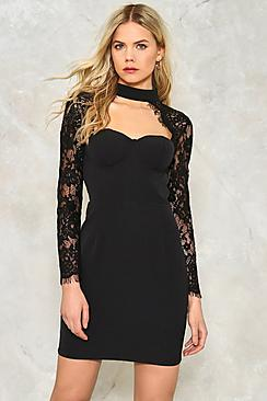 Victoria Lace Sleeve Bustier Dress