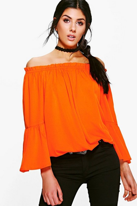 Nadia Woven Off The Shoulder Ruffle Top