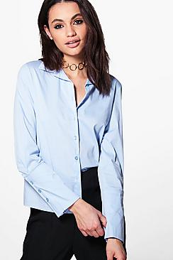 Lacey Wide Cuff Tailored Shirt