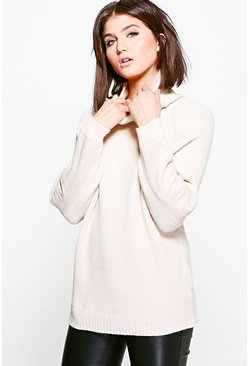Julia Funnel Neck Oversized Tunic
