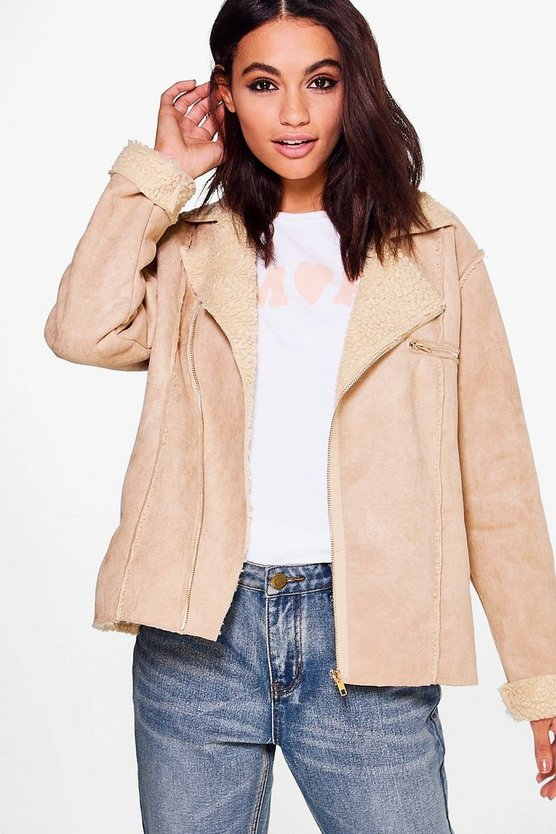 Erin Boutique Bonded Biker Jacket