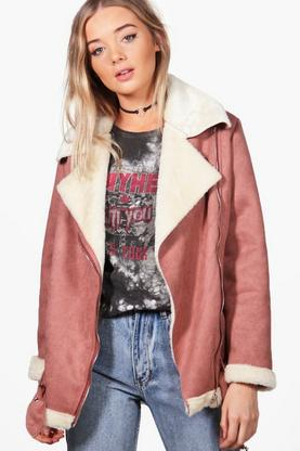 Poppy Boutique Bonded Aviator Jacket
