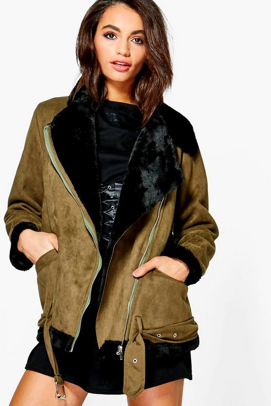 Caroline Boutique Bonded Aviator Jacket