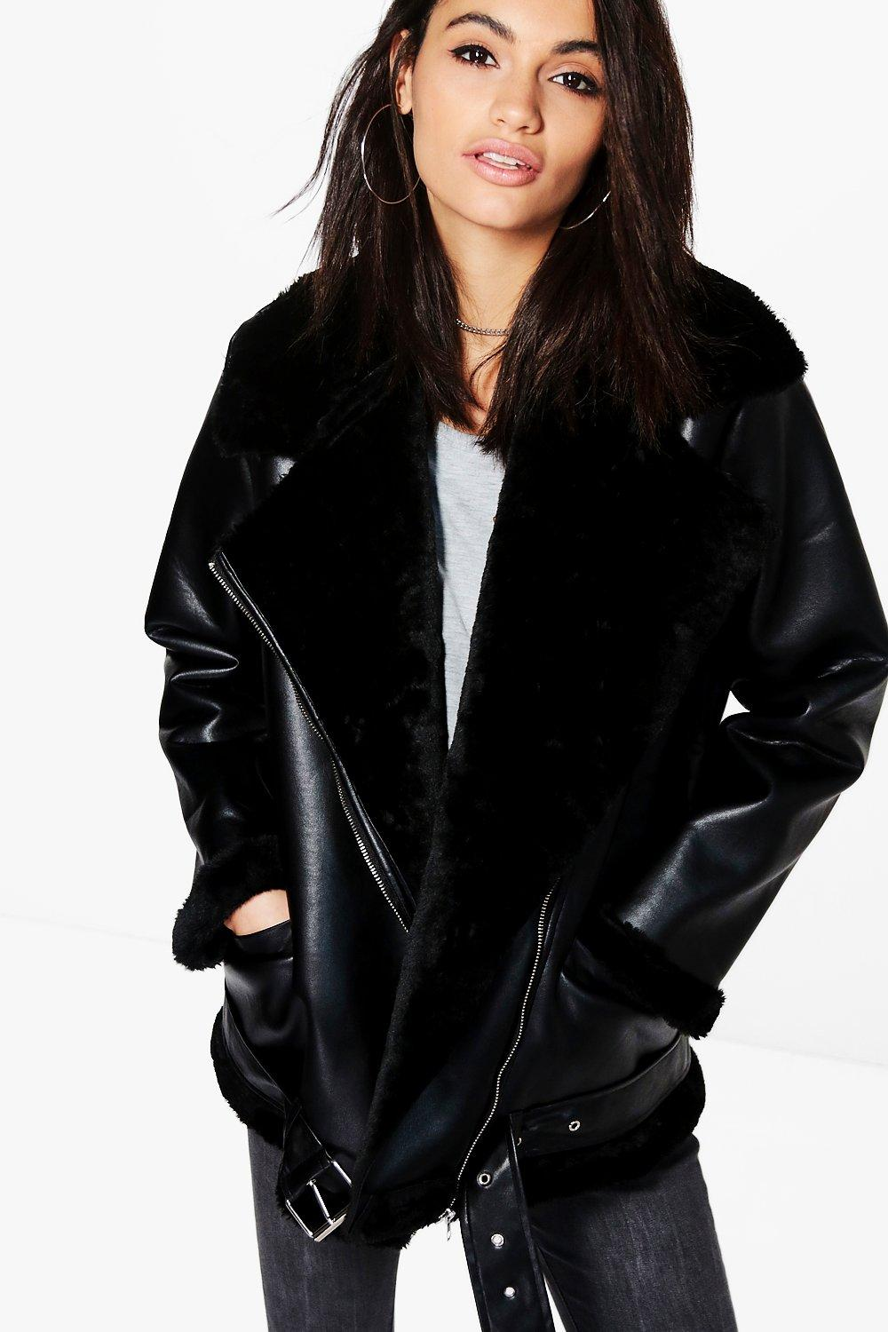 Isabella Boutique Faux Fur Lined Aviator
