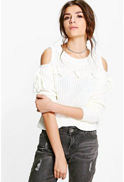Karina Lace Up Cold Shoulder Jumper
