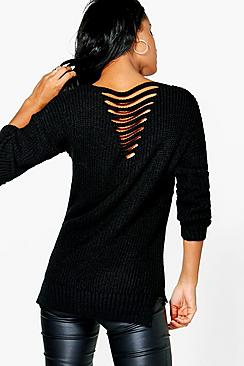 Vanessa Ladder Back Fisherman Jumper