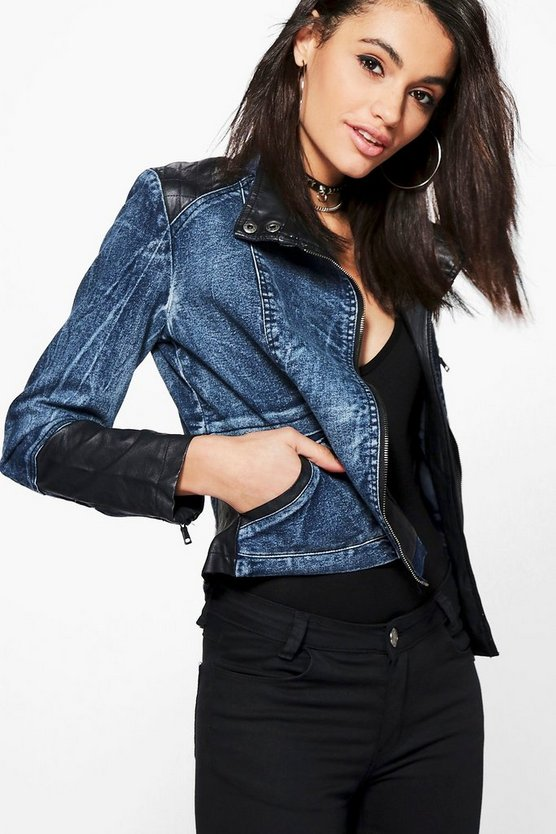 Savannah PU Quilted Biker Jacket