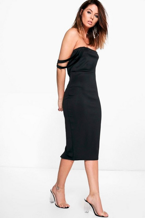 Emilia Double Strap Bandeau Midi Dress